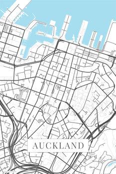 Mapa de Auckland white