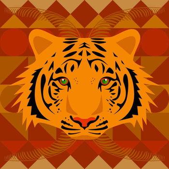 Reprodução do quadro Aztec Tiger