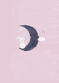 Ilustração Baby girl bunny