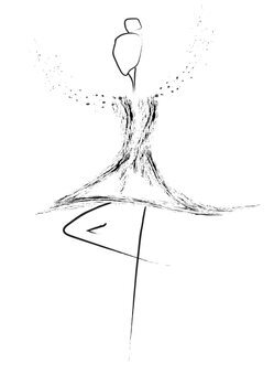 Ilustração Balerina