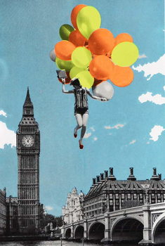 Reprodução do quadro Balloons, 2017,