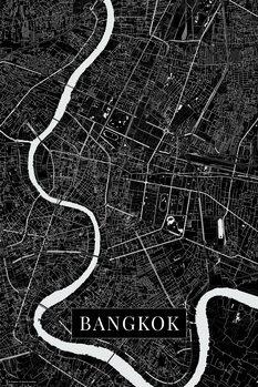 Mapa de Bangkok black