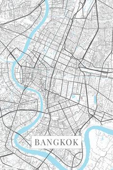 Mapa de Bangkok white
