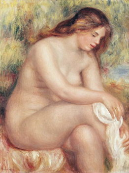 Reprodução do quadro Bather Drying Herself, c.1910