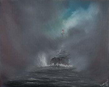 Reprodução do quadro Battle of Jutland 31st May 1916, 2014,