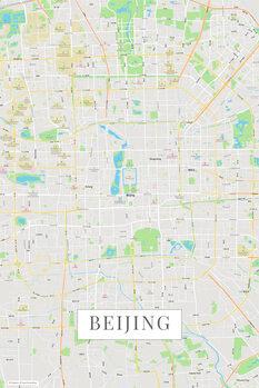 Mapa de Beijing color