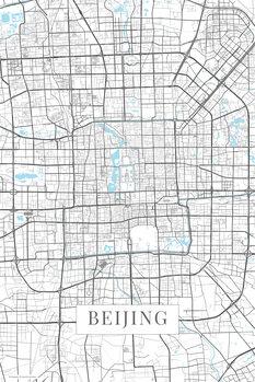Mapa de Beijing white