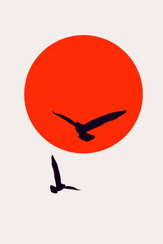 Ilustração Birds In The Sky