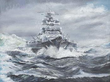 Reprodução do quadro Bismarck off Greenland coast 23rd May 1941, 2007,