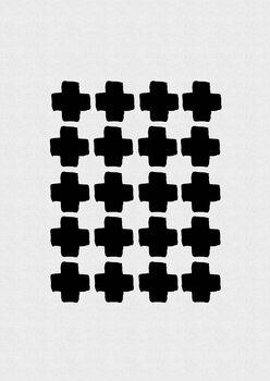 Ilustração Black and White Abstract III