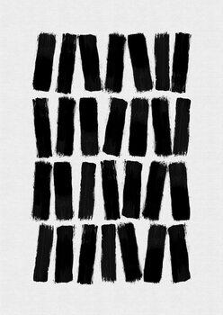 Ilustração Black Brush Strokes