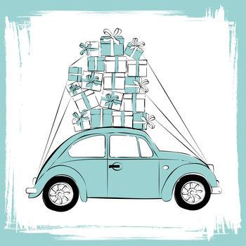 Ilustração Blue Car