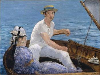 Reprodução do quadro Boating, 1874