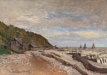 Reprodução do quadro Boatyard Near Honfleur; Le Chantier de Petits Navires, pres de Honfleur, 1864