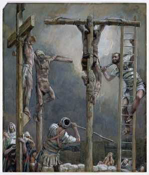 Reprodução do quadro Breaking of the Thieves' Legs, illustration for 'The Life of Christ', c.1886-94