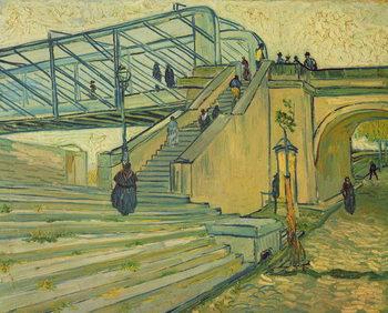 Reprodução do quadro Bridge of Trinquetaille, 1888