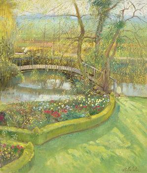 Reprodução do quadro Bridge Over the Willow, Bedfield