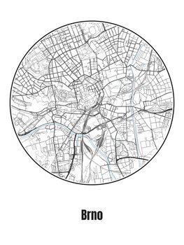 Mapa de Brno