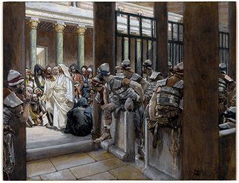 Reprodução do quadro But No Man Laid Hands on Him, illustration for 'The Life of Christ', c.1884-96