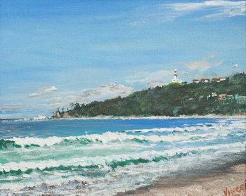 Reprodução do quadro Byron Bay, Australia, 1998,