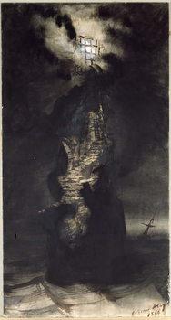 Reprodução do quadro Casquets Lighthouse, 1866