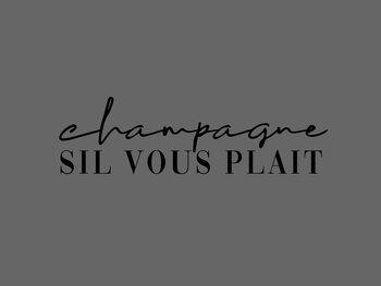 Ilustração Champagne sil vous plait