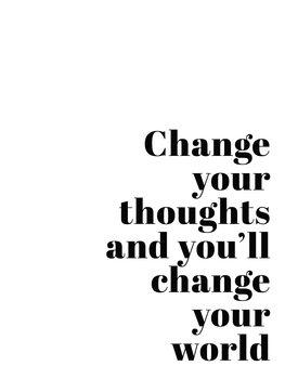 Ilustração Change your thoughts