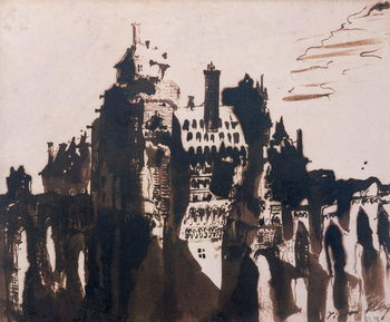 Reprodução do quadro Chateau fortified by two Bridges