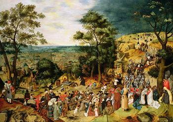 Reprodução do quadro Christ on the Road to Calvary, 1607