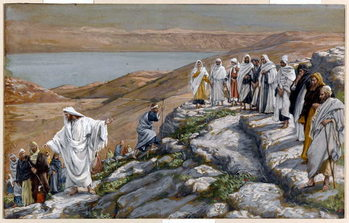Reprodução do quadro Christ Sending Out the Seventy Disciples, Two by Two, illustration for 'The Life of Christ', c.1884-96