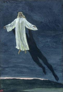 Reprodução do quadro Christ Taken Up into a High Mountain, illustration for 'The Life of Christ', c.1886-94