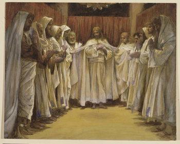 Reprodução do quadro Christ with the twelve Apostles, illustration for 'The Life of Christ', c.1886-96