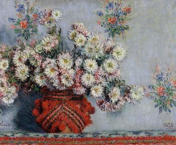 Reprodução do quadro Chrysanthemums, 1878