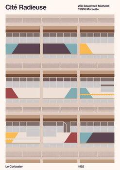 Reprodução do quadro Cité Radieuse