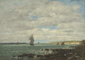 Reprodução do quadro Coast of Brittany, 1870