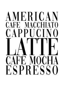 Ilustração coffee list