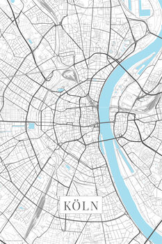 Mapa de Cologne white