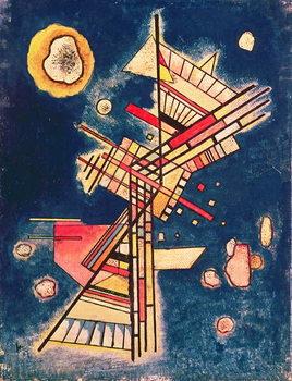 Reprodução do quadro Composition with a Blue Background, 1927