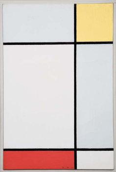 Reprodução do quadro Composition with Yellow and Red, 1927