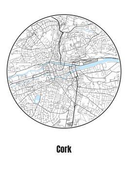 Mapa de Cork