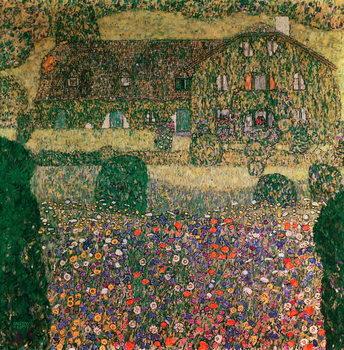 Reprodução do quadro Country House by the Attersee, c.1914