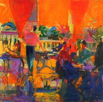Reprodução do quadro Courtyard Cafe, Tunis