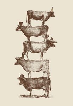 Reprodução do quadro Cow Cow Nuts