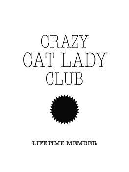 Ilustração Crazy catlady