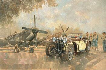 Reprodução do quadro Cream Cracker MG 4 Spitfires