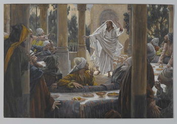 Reprodução do quadro Curses against the Pharisees, illustration from 'The Life of Our Lord Jesus Christ', 1886-96