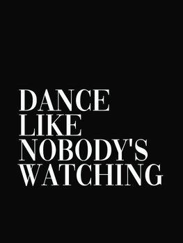 Ilustração dance like nobodys watching
