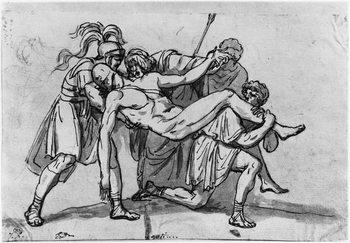 Reprodução do quadro Death of Meleager
