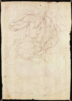 Reprodução do quadro Drawing of a male standing figure