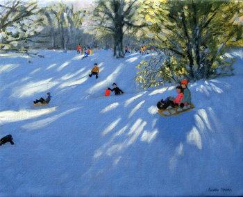 Reprodução do quadro Early snow, Darley Park, Derby